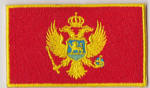 Montenegro Embroidered Flag Patch, style 04.